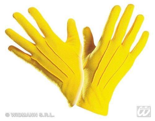 Fancy Dress Kostüm Magician - Yellow Gloves Short for 20s 30s 50s Flapper Moll Magician Assistant Fancy Dress Accessory by WIDMANN