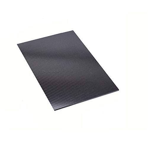 SOFIALXC Carbon Board 100% Carbon Blatt Laminat Platte Panel Twill Matt Finish für Rc Flugzeuge. Sport Zubehör,200x300mm,5mm