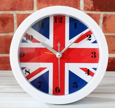Personalità Creative soggiorno orologio in studio di arte in Europa e America vintage negli Stati Uniti Regno Unito le bandiere una piccola sveglia orologio desktop,Regno Unito