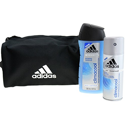 adidas Pflege Functional Male Geschenkset Climacool 48h Anti Transpirant Deodorant Spray 150 ml + Climacool Shower Gel 250 ml + Kulturtasche 1 Stk.