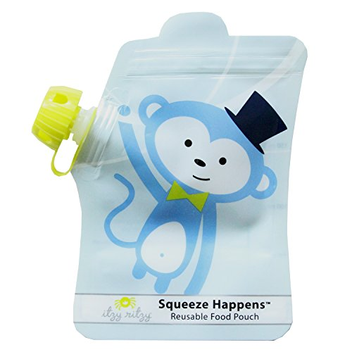 itzy-ritzy-squeeze-happens-reusable-food-pouches-blue-monkey-6-ounce-by-itzy-ritzy