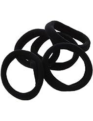 SODIAL(R) 5 Pcs Noir Elastique Bande Lien Cheveux Support de queue de cheval