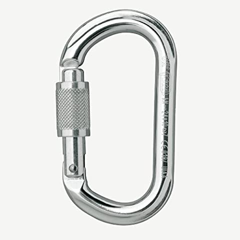 Petzl OK Triact - Black Oval-shaped carabiner for use with