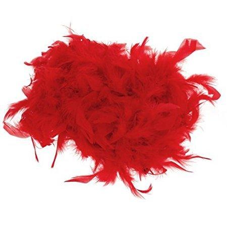 n Federn Schals Trailing Blumenstrauß Verpackung Stage Hochzeit Federn Federn, rot, 1,8 m (Rote Und Gelbe Federboa)