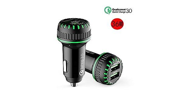 MZY1188 Caricabatteria per Auto,Caricatore rapido per Auto Dual USB a 2 Porte a Ricarica Rapida da 36 W Adattatore rapido per Caricabatterie rapido USB QC 3.0