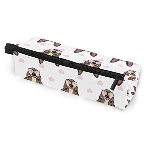 Tier Hund Liebe Herz Brillenetui Softbox Reißverschluss Sonnenbrille Halter Federbeutel Schutzhülle Bleistift Kosmetiktaschen Aufbewahrung