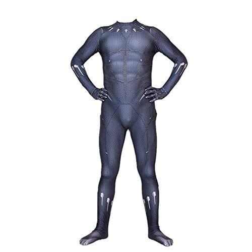 AKCHIUY Fasching Black Panther Kostüm Cosplay,Spandex Jumpsuits Kinder Kostüm Halloween Superheld Black Panther Kostüme,Men-XXL