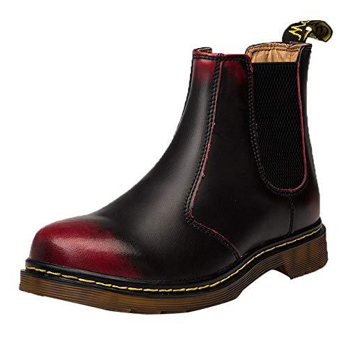 Chaussures Britanniques LuckyGirls Noir Bottes Femme Bottes Rondes ÉPaisse Martin Bottes Classiques Martin Bottes Bottes Rondes des Chaussures De Femmes