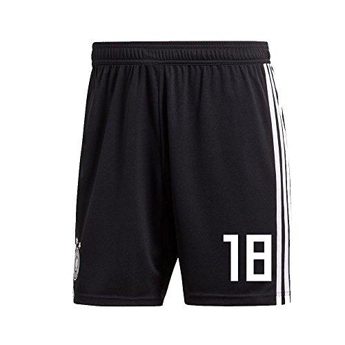 Adidas DFB Deutschland Hose Home Heimshorts WM 2018 Herren Kinder mit Spieler Nummer Farbe Kimmich, Größe 176
