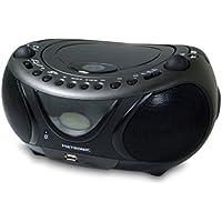 Metronic 477135 Radio/Lecteur CD/MP3 Portable Bluetooth avec Port USB - Noir