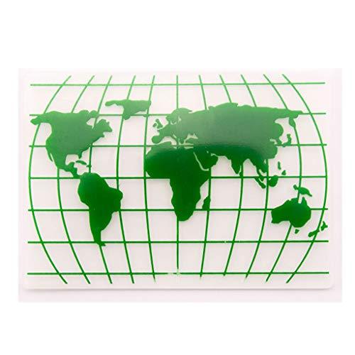 Xurgm Weltkarte Kunststoff Prägeschablone Prägefolder Embossing Folder Prägeschablone Prägefolder Schablone Transparent für DIY Album Papier Karten Umschlag Scrapbooking