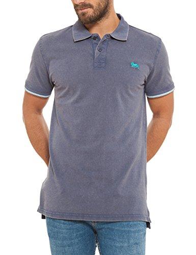 Lonsdale Poloshirt Herren Short Sleve Lion Logo Avio