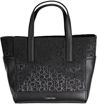 Calvin Klein - Bolso de tela para mujer negro negro