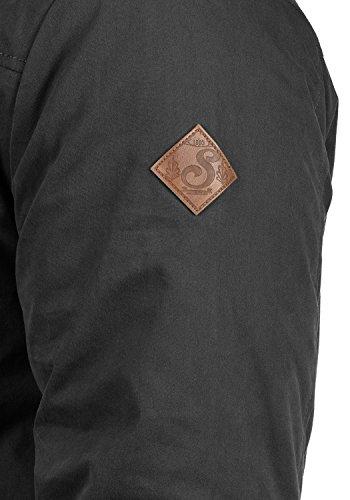 SOLID Dry Parka Herren lange Winterjacke Parka mit hochabschließendem Kragen und Kapuze mit Fellkragen aus hochwertigem Material Black (9000)