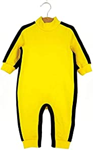 Children's Yellow Jumpsuit-Bruce Lee Role-Playing Clothing-Easy To Wear-Breathable And Comfortable Cotton