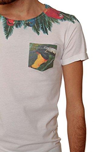 Kultivate Herren Shirt T-Shirt TS COSTA, Farbe: Weiss Weiß