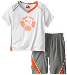 Puma Little Boys' Boy Team Perf Set, White, 6 6 - White