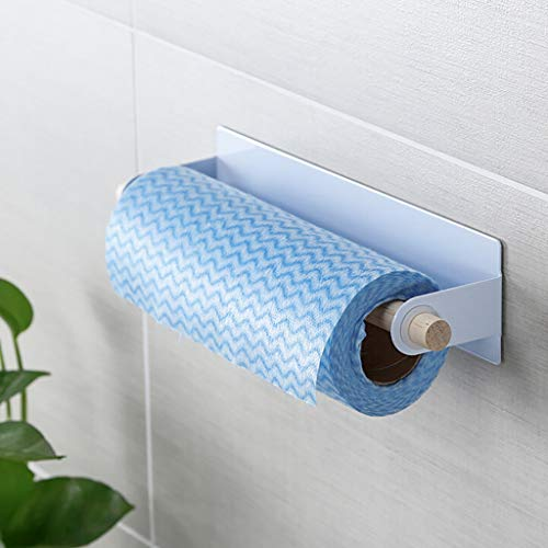 Kabinett Papier-handtuch-halter (sunnymi ® Toilettenpapierhalter Klebstoff Papier Handtuch Halter Unter Kabinett Für Küche Badezimmer (Weiß))