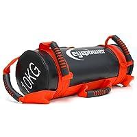EYEPOWER 2,5-10kg Power Bag 17x45cm Saco de Arena para Entrenamiento con Pesa Rojo