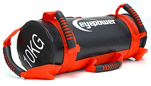 Eyepower 2,5-10kg Power Bag 17x45cm Sand Gewichtssack Core Sandbag Sandsack Rot -