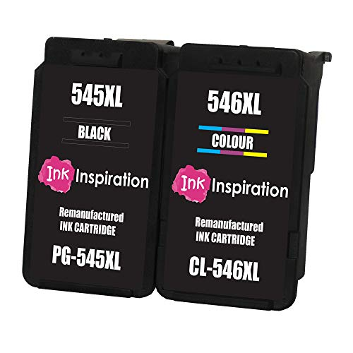 INK INSPIRATION 2 Cartucce d'Inchiostro Rigenerate per Canon PG-545XL CL-546XL Pixma MG2450 MG2550 MG2550S MG2555S MG2950 MG3050 MG3051 MG3052 MX495 iP2850 TR4550 TR4551 TS205 TS305 TS3150 TS3151