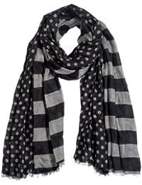 Timezone Textil Damen Schal 10-4087 Stripe/dot scarf