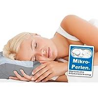Nackenkissen Mikroperlen Wellness Kissen. Kopfkissen mit Mikro-Perlen. Hochwertiges Bettkissen. Nackenstützkissen mit hervorragenden Eigenschafen: leicht, für Allergiker geeignet, formstabil, bequem.