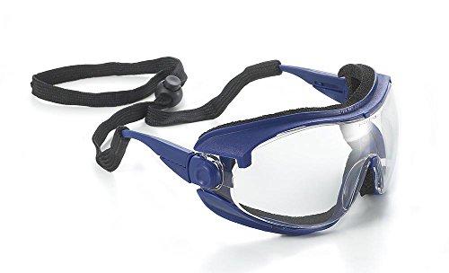 Univet 543Hybrid Schutzbrille/Brille mit Clear Lens & Neck Cord
