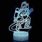 3D Illusion Lampada Lampada LED 3D Notte 7 colori che cambiano magica illusione 3D Lampada for i bambini in camera la decorazione domestica (Vigili del Fuoco Series)