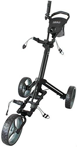 Glide-Tek Schiebewagen für Golftaschen, Unisex, 6.0 Golf Push, schwarz/Gunmetal