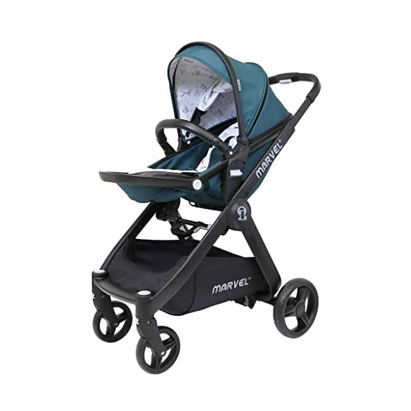 iSafe Marvel 2in1 Complete Pram System Pushchair and Carseat - Teal iSafe  4
