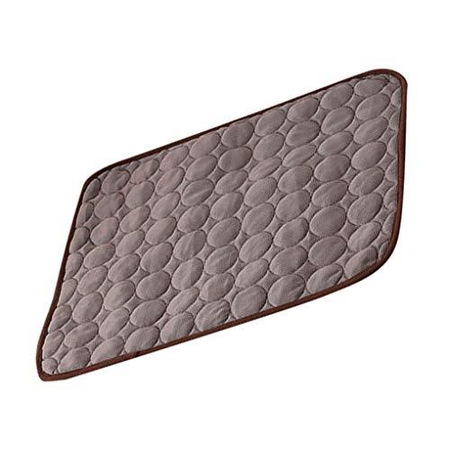 Lindahaot Haustier-Matten waschbare Sommerkühlmatte für Kennel Breathable Haustier-Kisten-Cooling Pad Kissen Schlafmatte Kaffee 70 * 55cm (Zeit Pad Kostüm)