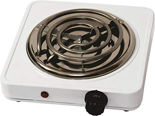 Electric Cooking Heater 1000 Watt with Thermostat G Coil Stove Hot Plate Induction Cooktop/Cookers/Electric Cooking Heater (Ivory)