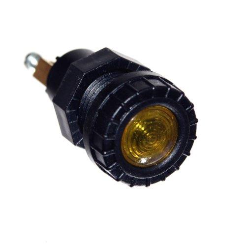 Preisvergleich Produktbild 1x Anzeige Leuchte GELB 12V Neu Einbau 17mm Loch Kontroll Lampe Beleuchtung Traktor Otto Harvest