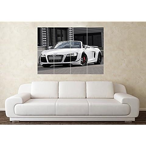Grande auto sportiva Audi R8Spyder poster da parete, con immagine artistica