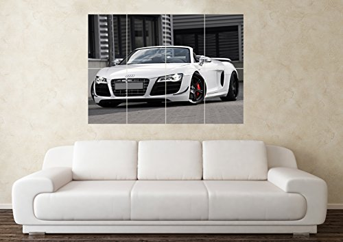 Price comparison product image Large Audi R8 Spyder SuperCar Sports Car Wall Poster Art Picture Print