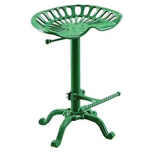 Carolina Stuhl und Tisch Verstellbarer Sitz Hocker, Neuheit, Traktor grün (Sitz Traktor Bar)
