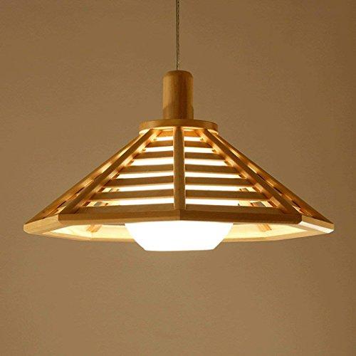 LQB Leuchter-Leuchter-kreative hölzerne Klotz und Raum beleuchtet Restaurant beleuchtet Feste hölzerne geführte Lampen-japanische Art,Klein (Lampe Hölzerne)