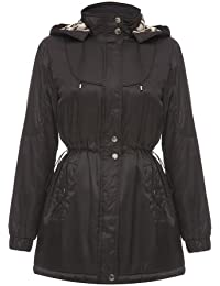 David Barry - Womens Quilted Winter Detachable Hooded Jacket