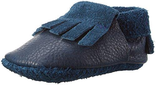 Mokassin (BIOKREIS) Krabbel- & Hausschuhe, Blau (Tobago 716), 22/23 EU ()