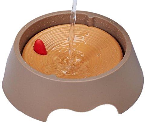 MTTLS Drinking Brunnen waterer nicht nass der Hund Katze trinken Wasser Circle PET Trinker Katze und Hund Schüsseln (Hund Trinken Langsam Schüssel Wasser)