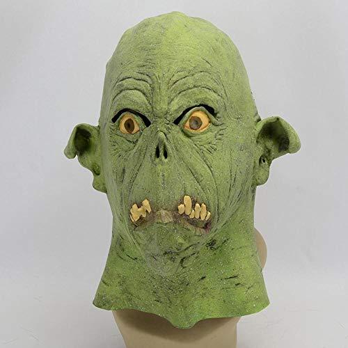 Littlefairy Halloween mask,Halloween Party Green Alien Latex Mask
