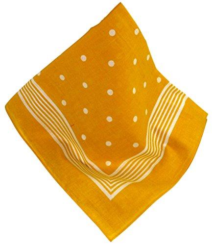 Klassisches Nickituch mit klarem Punktmuster, sattes und leuchtendes Gelb (Bandana Klassisches)