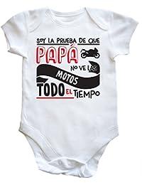 HippoWarehouse Soy La Prueba de Que Papá No Ve Las Motos Todo El Tiempo body bodys pijama niños niñas…