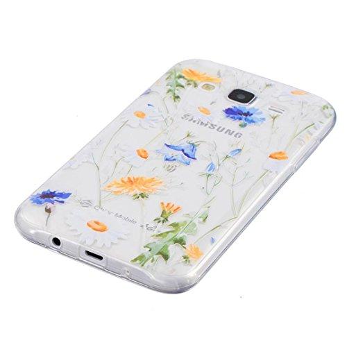 KSHOP TPU Silikon Hülle für iphone SE/iphone 5 /iphone 5s Handyhülle Schale Etui Protective Case Cover dünn mit Drucken Muster - indisches Heilige Blume Mandala Schwarz lv03