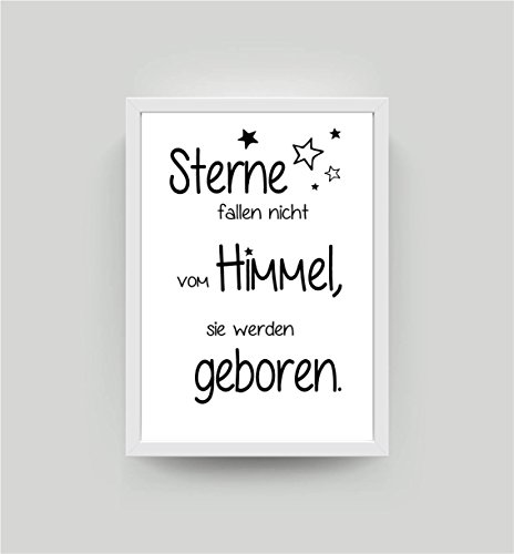 Kunstdruck mit Spruch Sterne fallen nicht... DIN A4 Bild K016