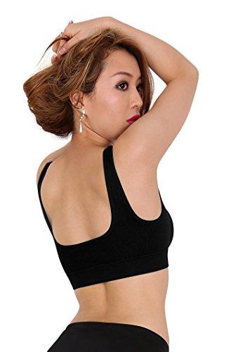SODACODA Sport Fitness Yoga BH ohne Bügel und ohne Polsterung Schwarz