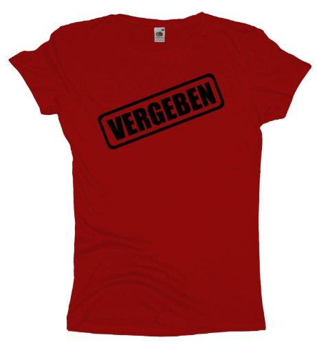 Ma2ca - JGA Vergeben - Girlie Damen Jungesellenabschied T-Shirt -rot-l