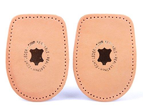 Fersenkissen aus pflanzlich gegerbtem Leder - für alle Schuhe z2040(natur,41 - 43)