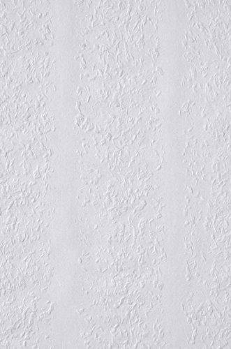 Erfurt Sripes 2205-03 Stripes 52 Rauhfaser Rauhvlies, weiß, 2 Rollen je 25x0,72m